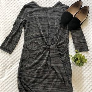 Lush Gray and Black Synched Dress